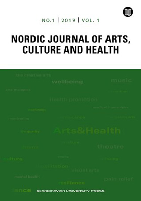 Nordic Journal of Arts, Culture and Health frontpage